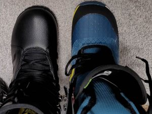 Adidas Tactical ADV Size 9 footprint vs. Size 9 Burton Kendo