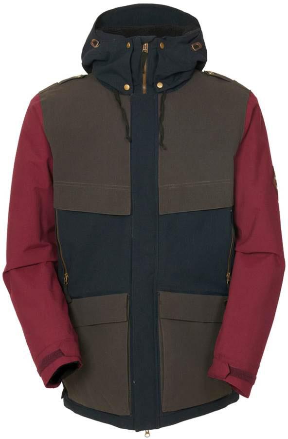 image 686-parklan-field-jacket-coffee-ripstop-colorblock-jpg