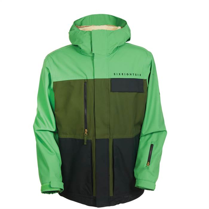Image 686 Authentic Smarty Form Jacket Green Colorblock Front