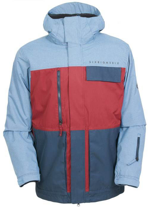 Image 686 Authentic Smarty Form Jacket Wine Colorblock Jpg