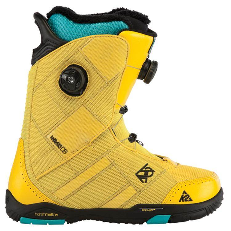 image k2-maysis-snowboard-boots-demo-2013-yellow-side-jpg