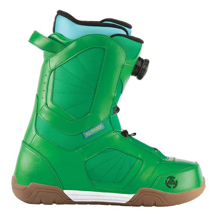 image k2-raider-snowboard-boots-demo-2013-green-front-jpg